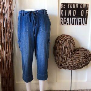 Bandolina Jeans Jenna cropped length cargo jean